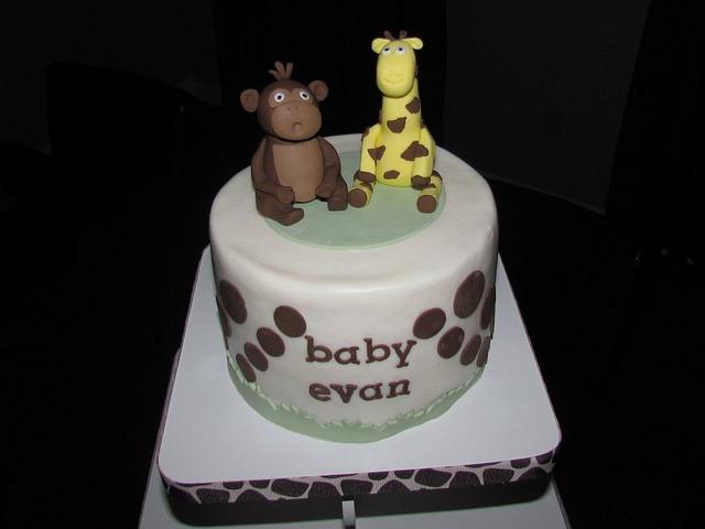 Jungle Baby Shower Cupcake Tower