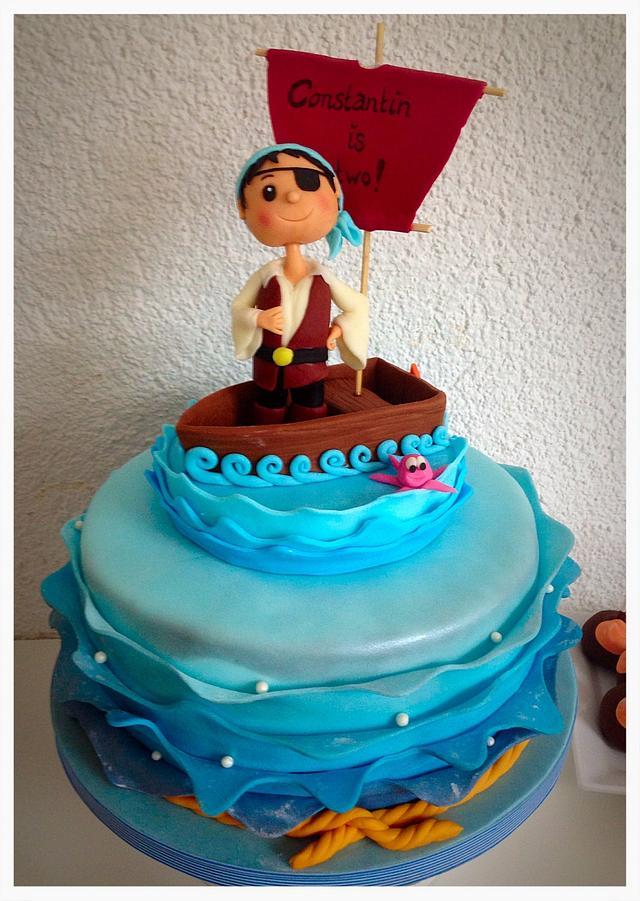 Surprising Little Pirate Birthday Cake Cake By Simone Barton Cakesdecor Birthday Cards Printable Inklcafe Filternl