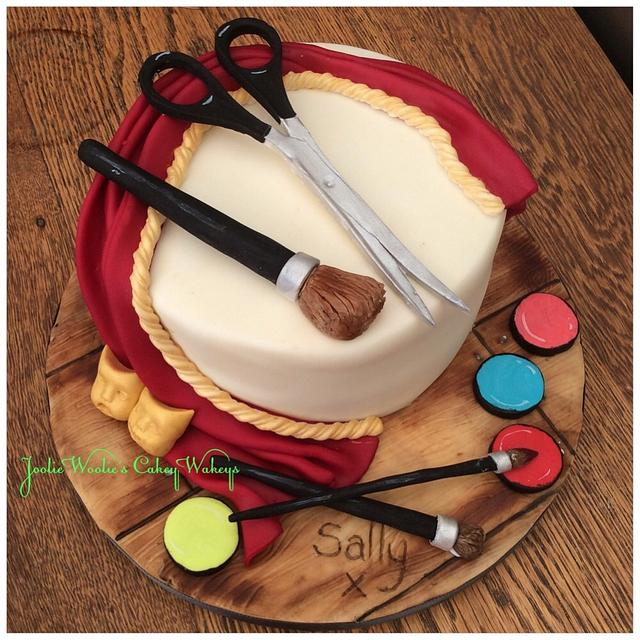 Theatrical make up artist cake