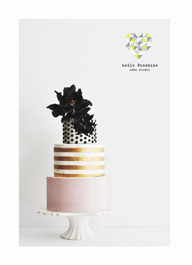 Peachy Chic Modern 35Th Birthday Cake Cake By Hello Sunshine Cakesdecor Personalised Birthday Cards Sponlily Jamesorg