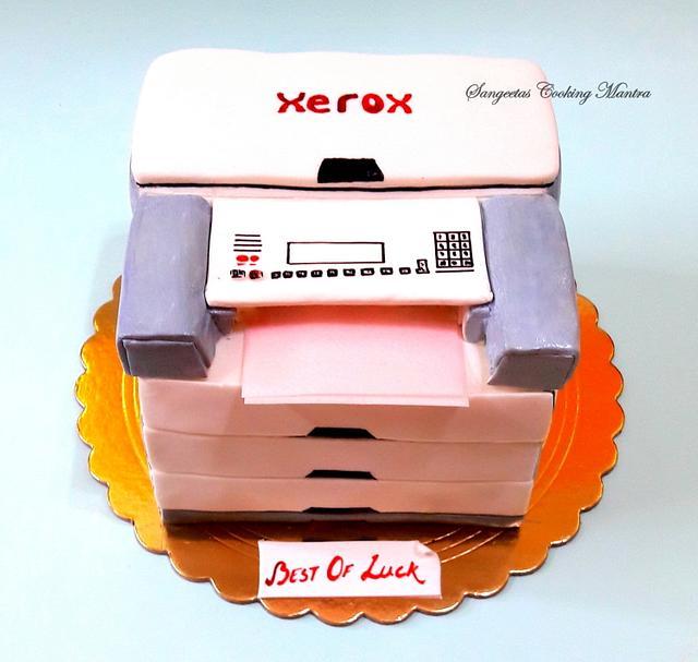 Photocopy Machine Cake