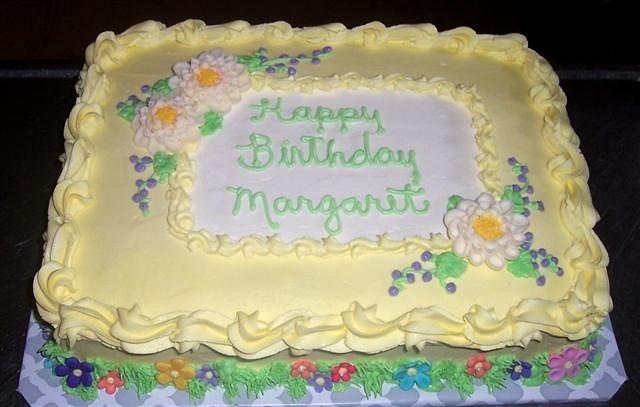 Sunny Yellow Birthday Cake
