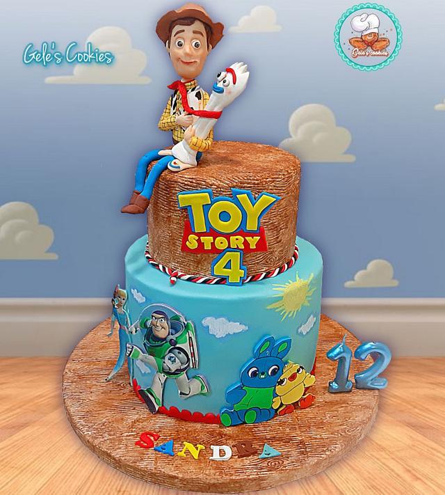 Enjoyable Toy Story 4 Fondant Cake Cake By Geles Cookies Cakesdecor Personalised Birthday Cards Fashionlily Jamesorg