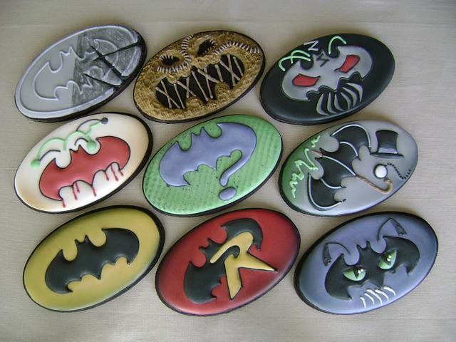 Batman Friend And Foe Logos Cookie Set