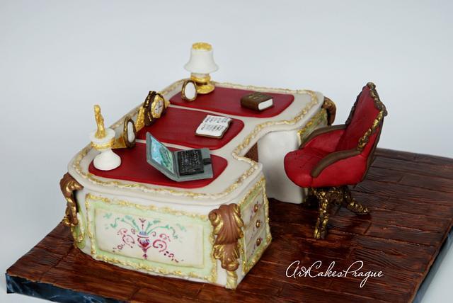 Baroque style writing desk