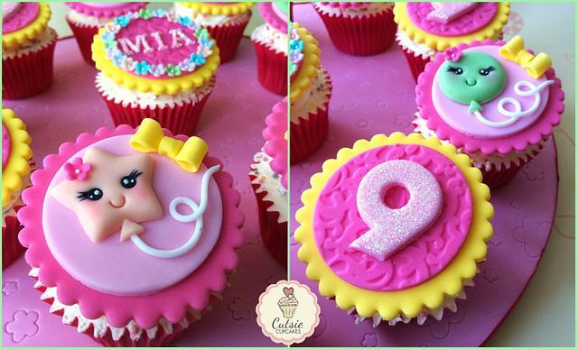 Kawaii Balloon Cupcakes