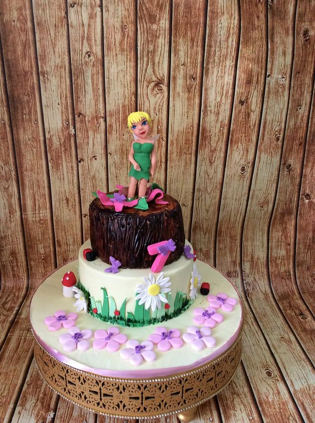 Tinker Bell theme cake