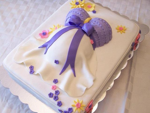 Lavender Baby Belly Cake