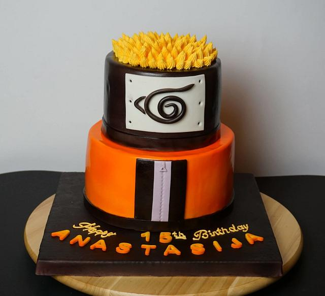 Remarkable Naruto Anime Cake Cake By Dragana Cakesdecor Personalised Birthday Cards Sponlily Jamesorg