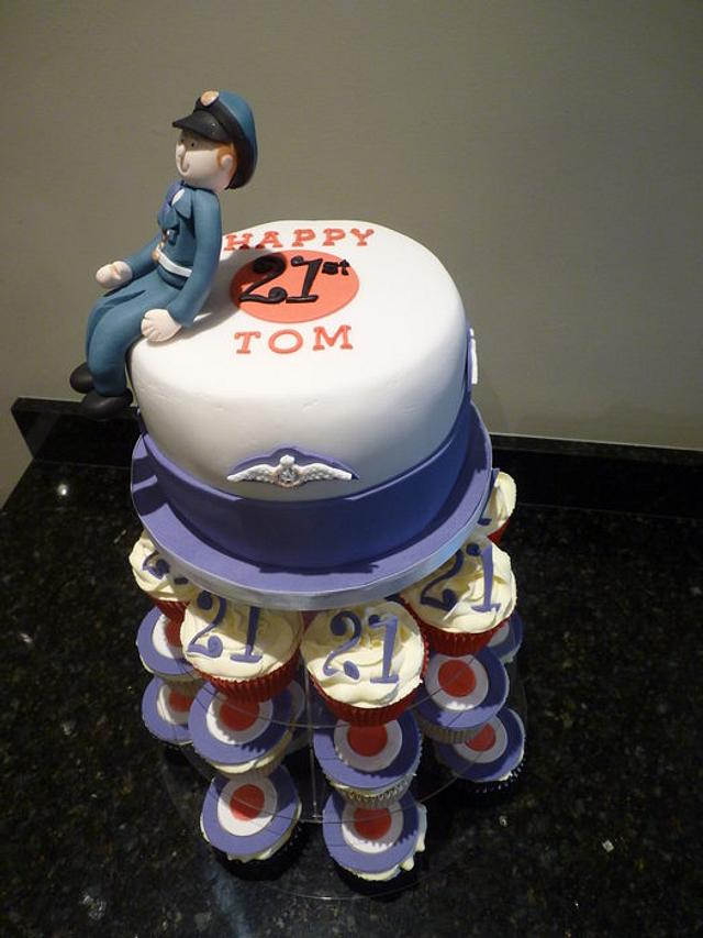 RAF themed Cake and Cupcakes