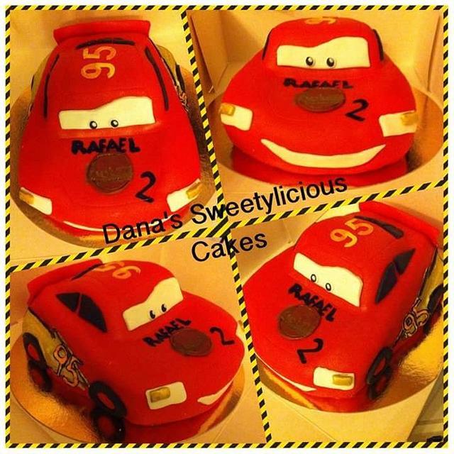 3d cars mcqueen cake