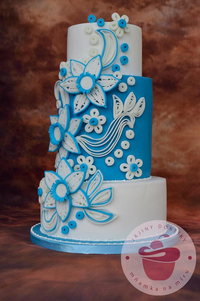 Floral Quilling cake