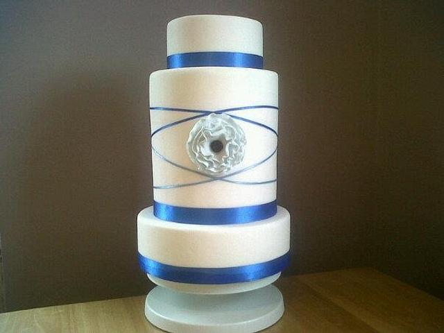 Blue Ruffle Bride