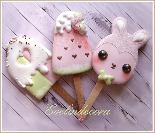 Kawaii popsicle cookies