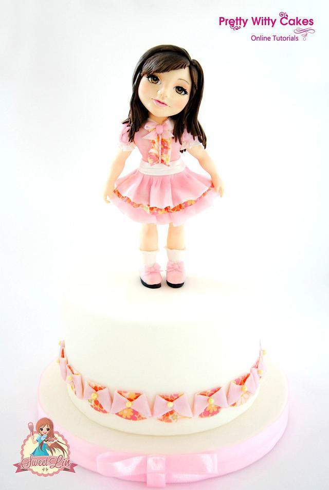 Momoka - Standing girl Cake