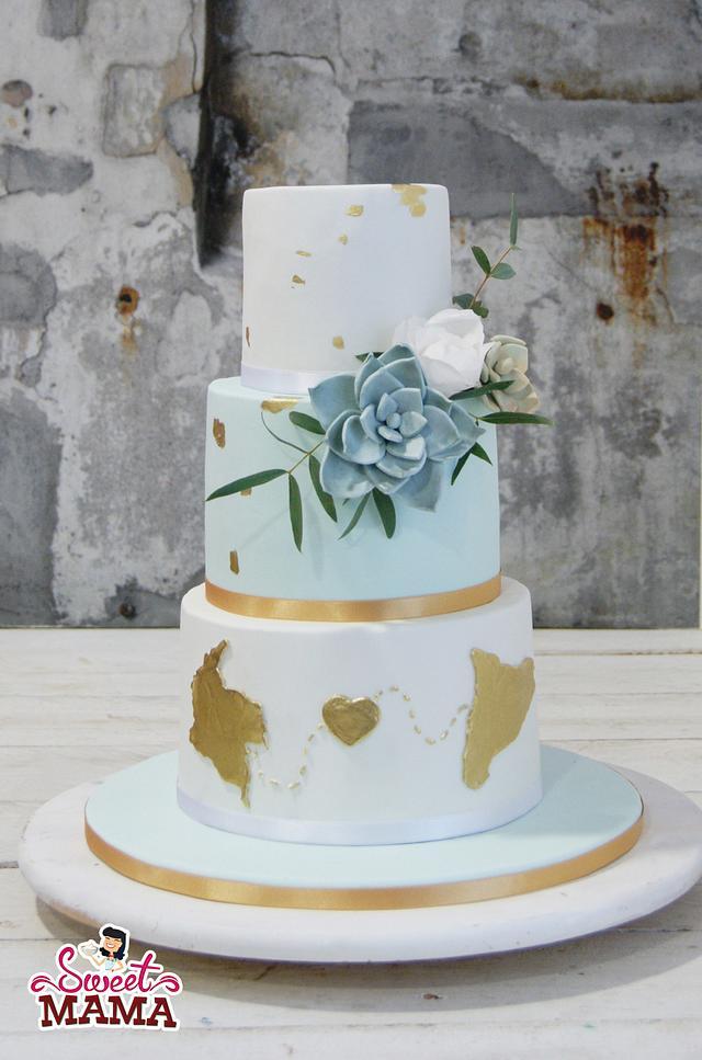 Colombia - Catalunya Wedding Cake