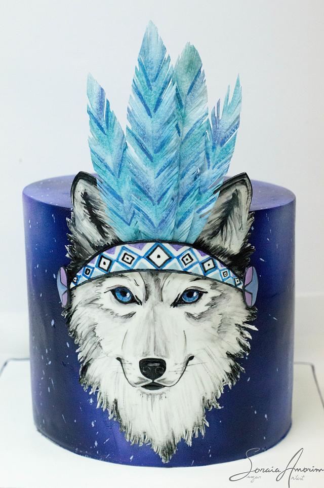 Magic wolf cake
