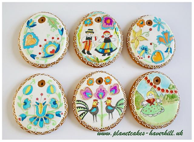 Polish Folk Easter Egg Cookies
