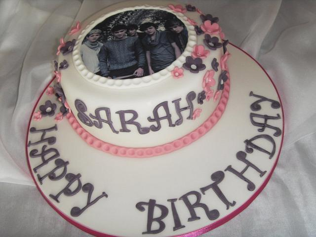 One Direction Edible Image Birthday Cake