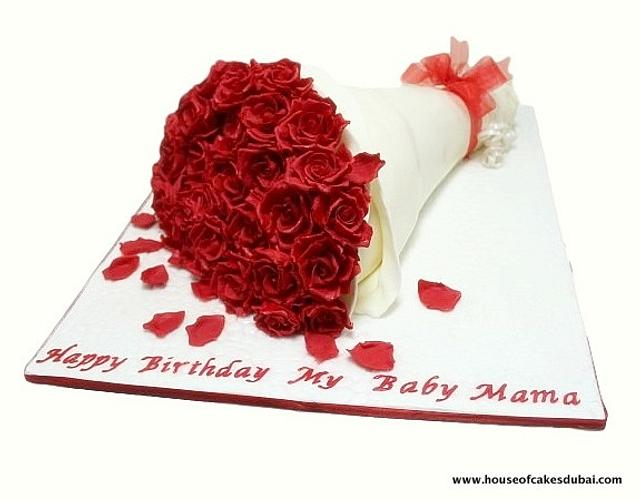Roses bouquet cake