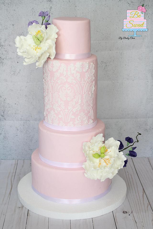 Anniversary wedding cake