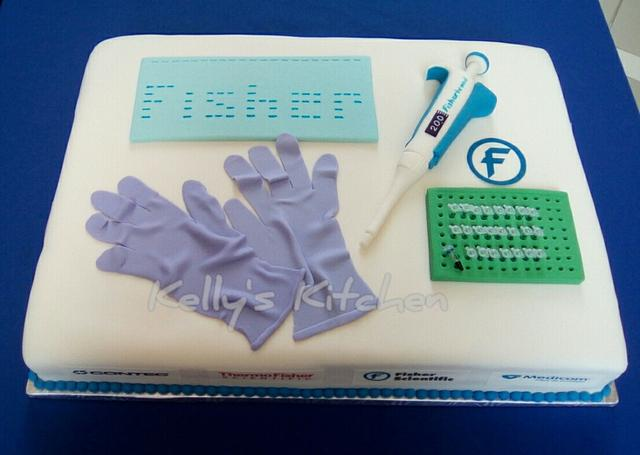 Fisher Scientific customer appreciation day cake