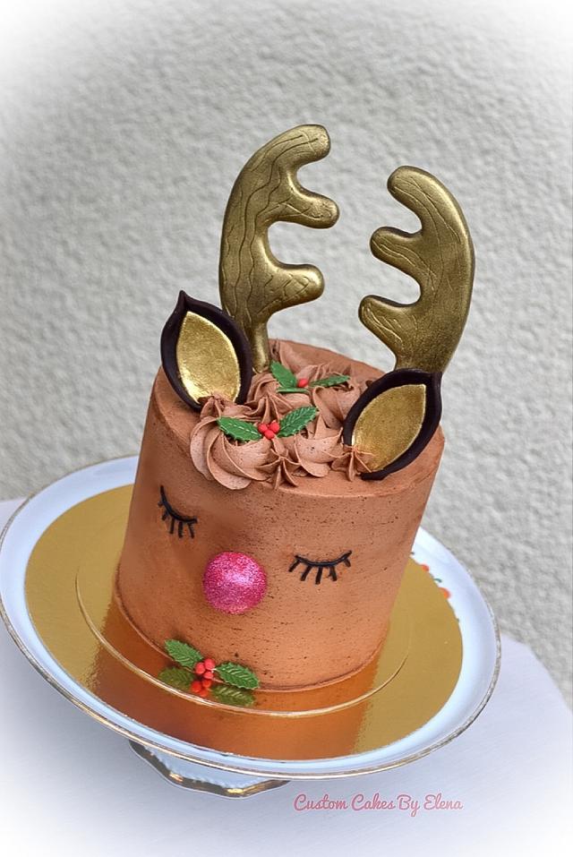Rudolf baby Xmas cake