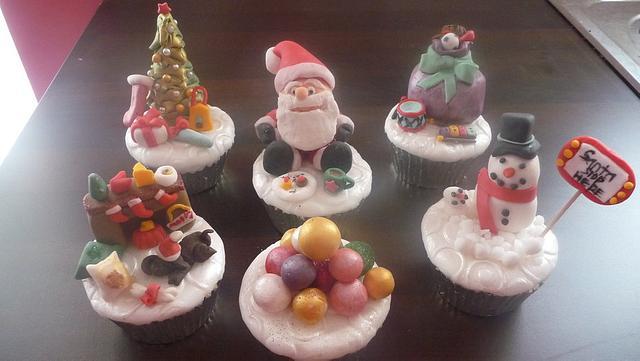 My Christmassy Cupcakes