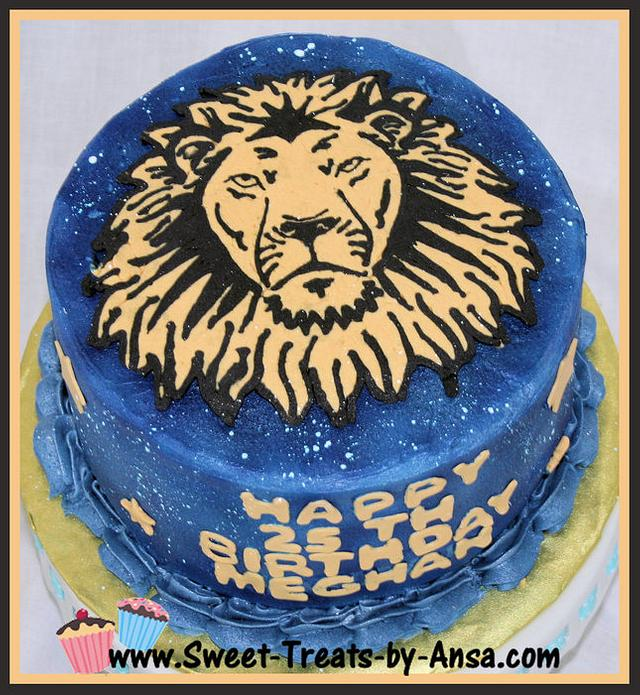 Incredible Astrology Leo The Lion Birthday Cake By Ansa Cakesdecor Funny Birthday Cards Online Overcheapnameinfo