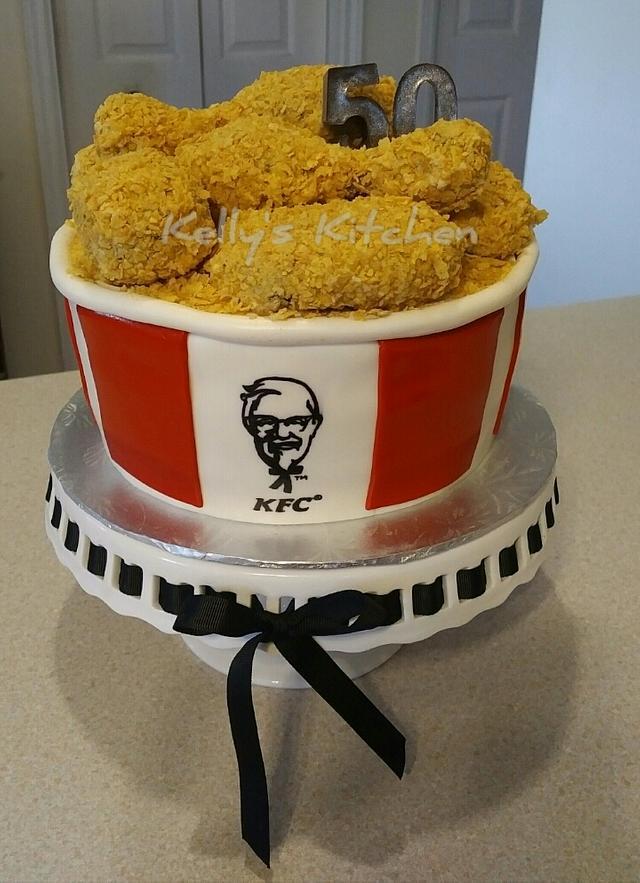 KFC bucket of chicken cake