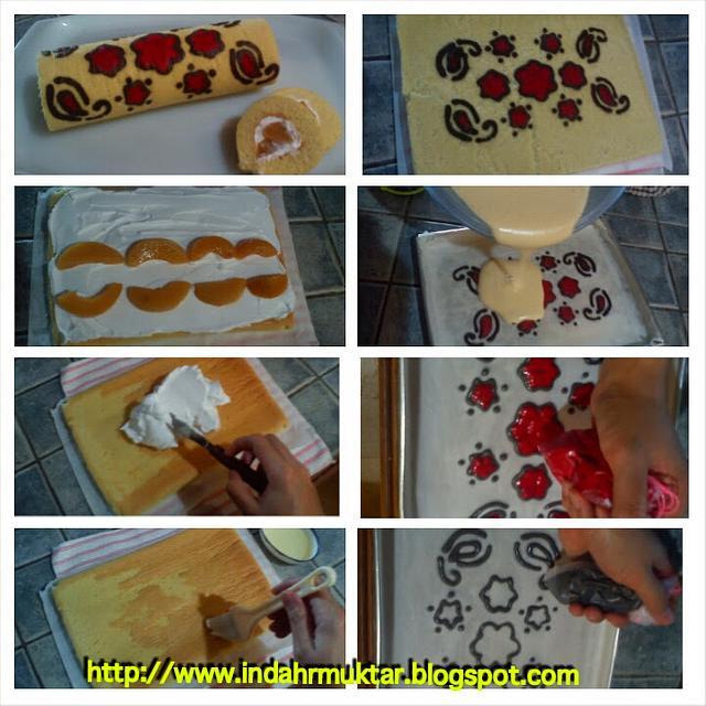 Simple deco roll cake
