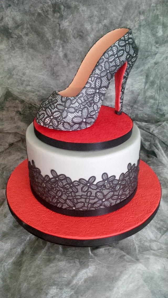 High Heel Shoe Cake inspired by Christian Louboutin