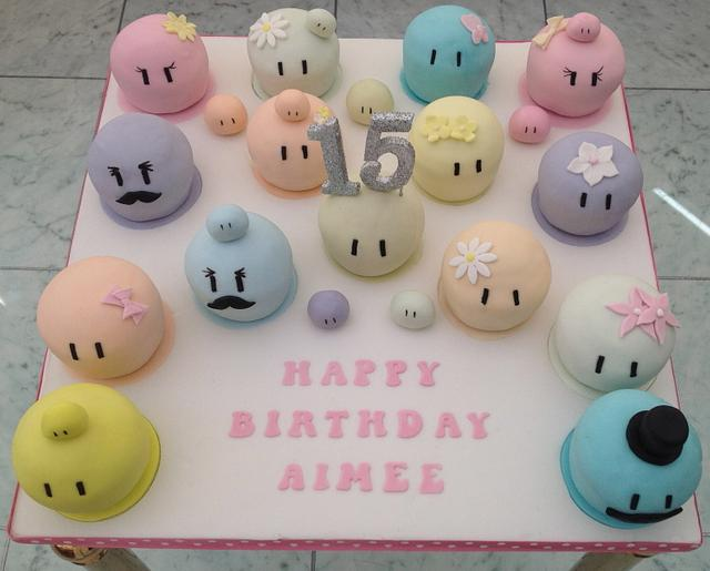 Dango cakes for a teenager's birthday