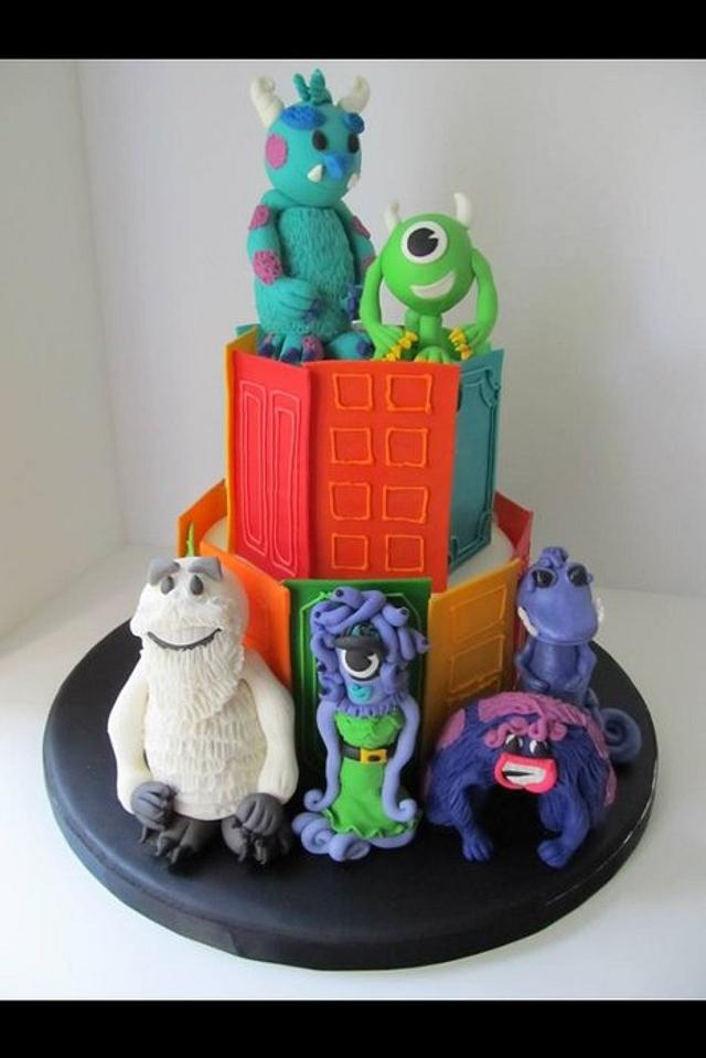 Strange Monsters Inc 3Rd Birthday Cake Cake By Denise Frenette Cakesdecor Personalised Birthday Cards Veneteletsinfo