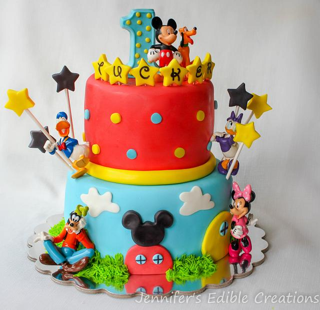 Tremendous Mickey Mouse Clubhouse Birthday Cake Cake By Jennifers Cakesdecor Personalised Birthday Cards Veneteletsinfo