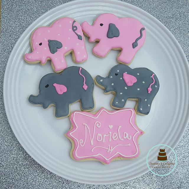 Elephant Babyshower Cookies