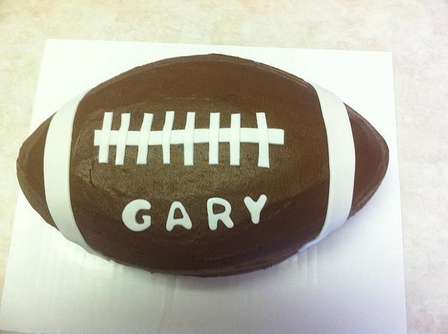 Chocolate Fudge Football Cake