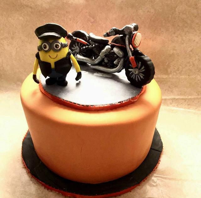 Stupendous Motorcycle Birthday Cake Cake By Goreti Cakesdecor Personalised Birthday Cards Epsylily Jamesorg