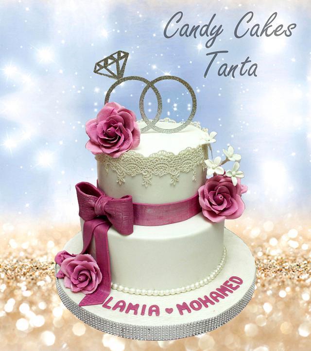 Rings engagement  cake :)