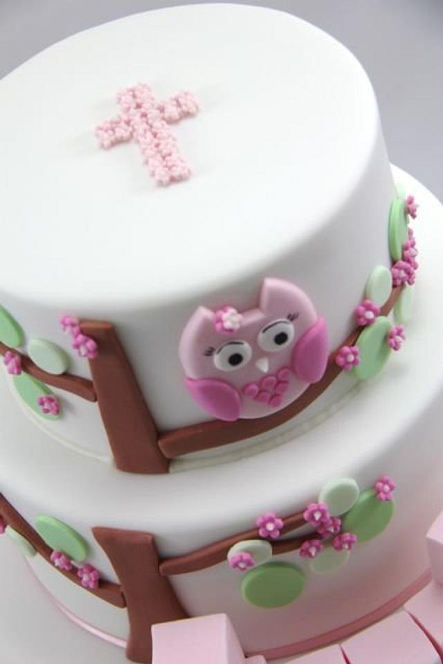 Pink Owl Christening