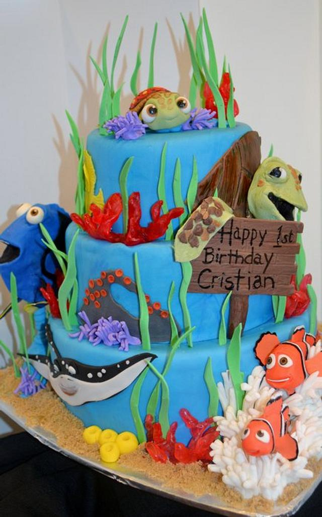 Astonishing Finding Nemo Birthday Cake Cake By Jenny Kennedy Cakesdecor Funny Birthday Cards Online Elaedamsfinfo
