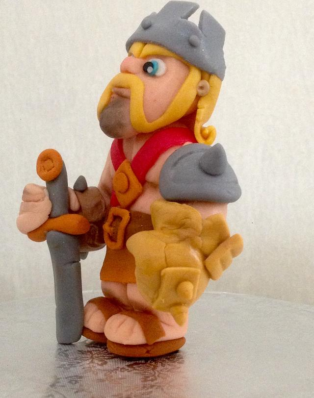 Barbarian King, fondant topper
