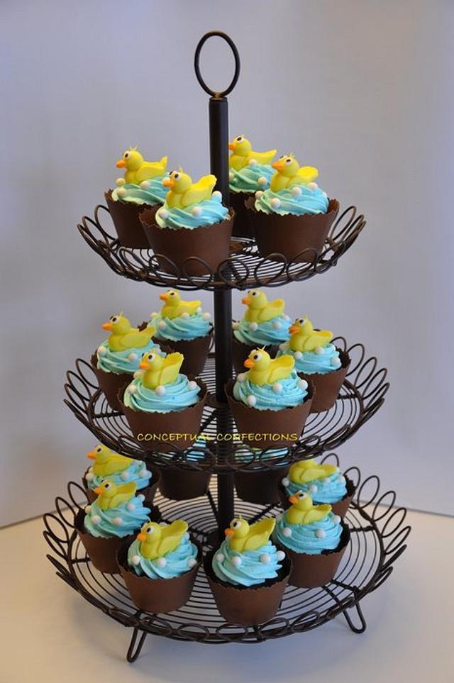Duck Baby Shower Cupcake