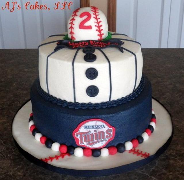 Astonishing Minnesota Twins Baseball Cake Cake By Amanda Reinsbach Cakesdecor Funny Birthday Cards Online Elaedamsfinfo