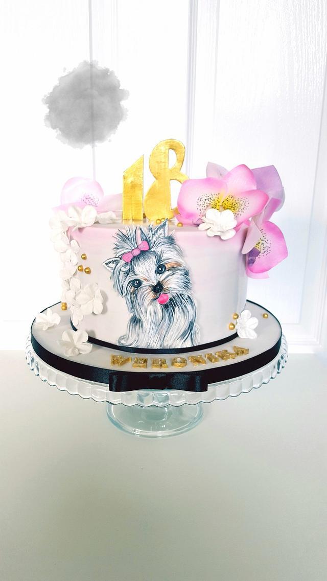 Yorkie Cake