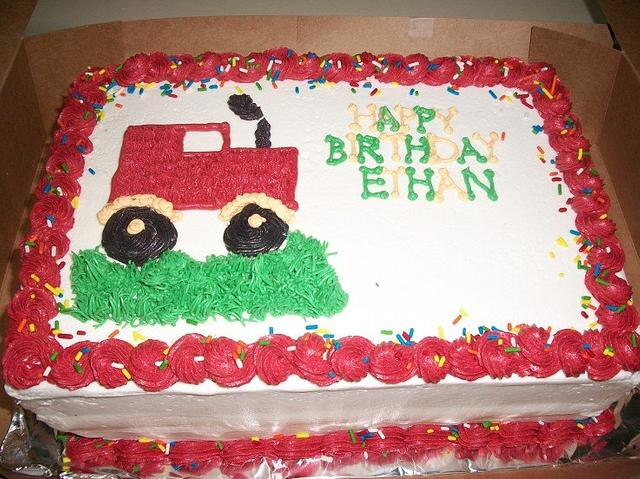 Tractor Birthday Sheet Cake