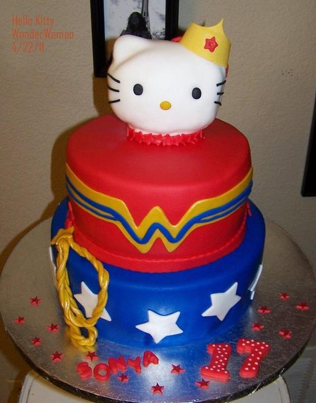 Hello Kitty Wonder Woman Birthday