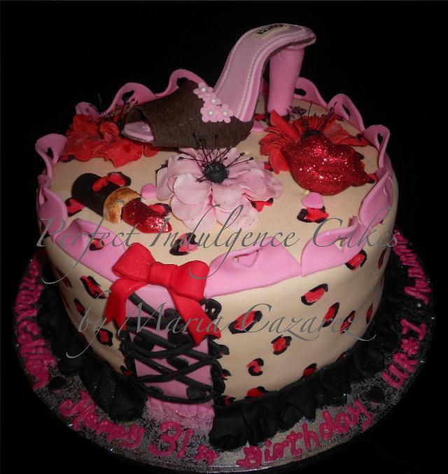 Leopard classy heel cake