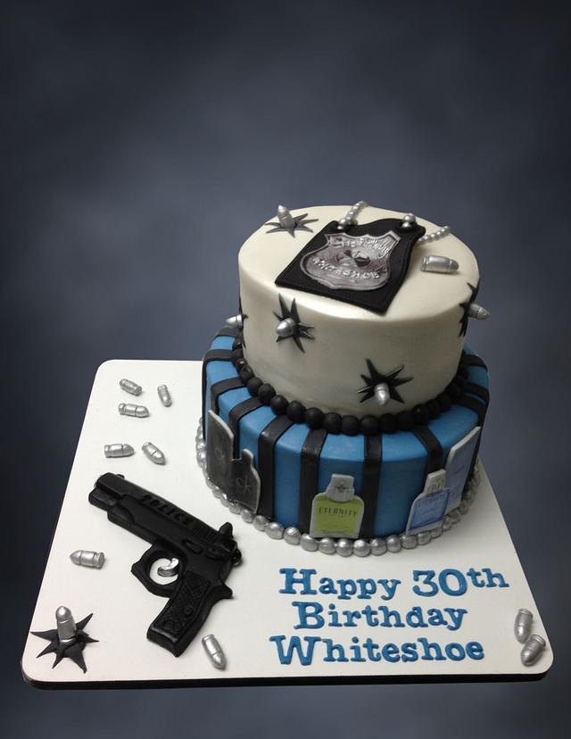 Bullet & Revolver Cake