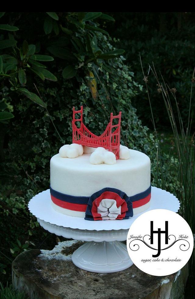 Wondrous San Francisco Cake Cake By Jennifer Holst Sugar Cake Cakesdecor Personalised Birthday Cards Paralily Jamesorg